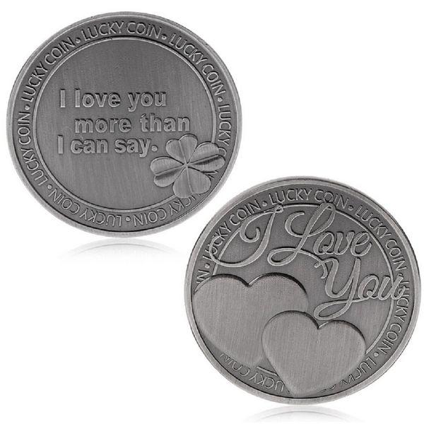 GLSY Lucky Love Commemorative Coin, Commemorative Coin Lucky Love Words Romance Couple Collection Art Gifts Souvenir
