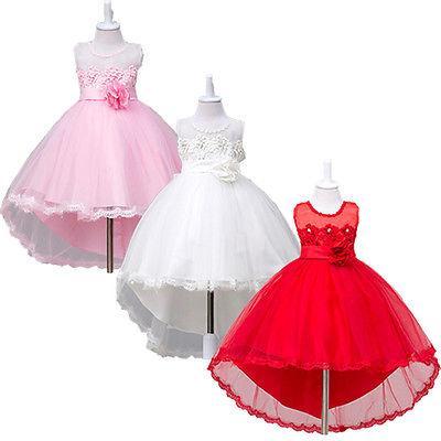 2017 yeni Zarif Prenses Çocuk Kız Düğün Balo Parti Pageant Akşam Örgün Elbise