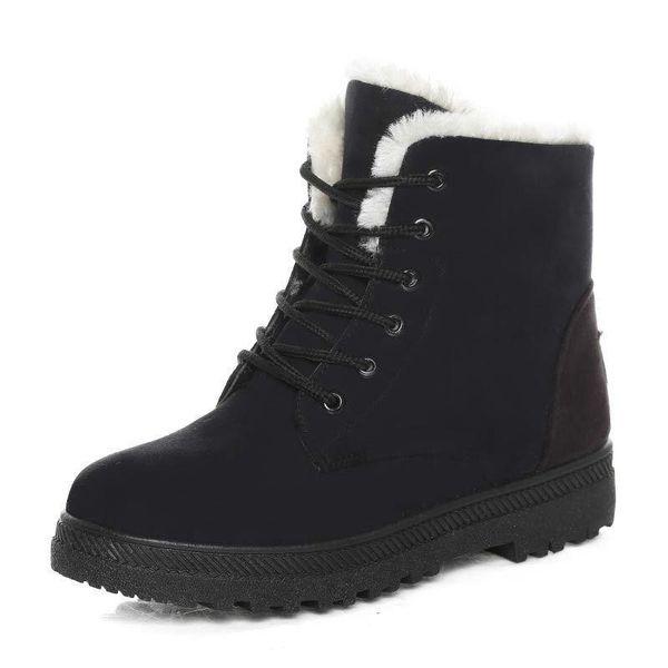 Kadın Kışlık Botlar Kadın Kışlık Ayakkabılar Düz Topuk Ayak Bileği Rahat Sevimli Sıcak Ayakkabılar Moda Kar Botları bayan Botları Ürün No. XDX-012