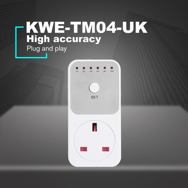 Mini LED 230V 13A 1h-10h Countdown Timer Switch Socket Outlet Plug-in Time Control for Kitchen Electric Appliance UK Plug