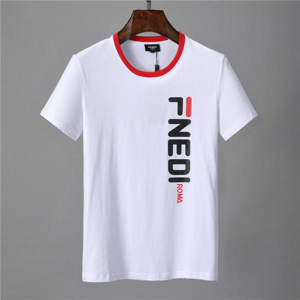 2019 Mens Designer T Shirts De Mode Vêtements 2018 D'été Casual Streetwear T-shirt Rivet Coton Mélange Ras Du Cou À Manches Courtes