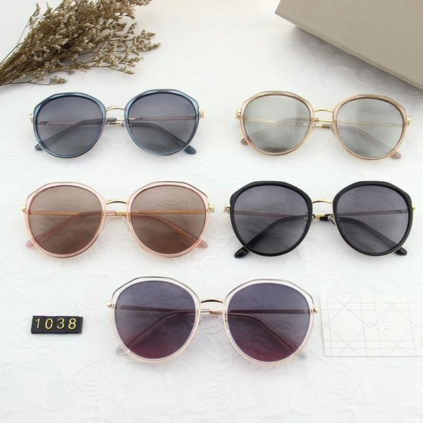 Дизайн солнцезащитные очки-Новый 2019 женская мода большая рамка поляризованные очки polaroid ультра поляризованные очки модель 1038
