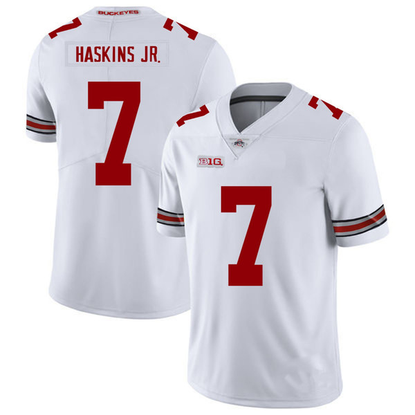 0c2f2d4f1 Dwayne Haskins Stitched Youth Ohio State Buckeyes Eddie George White Black Red  Kids NCAA College Jersey