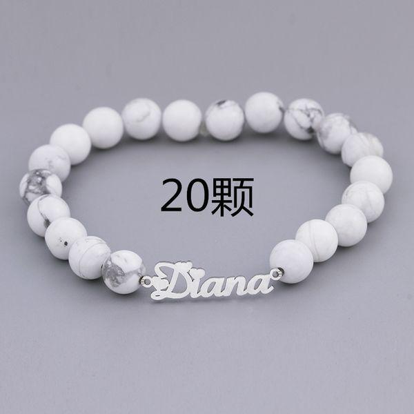 20 Beads-Platinum Plated