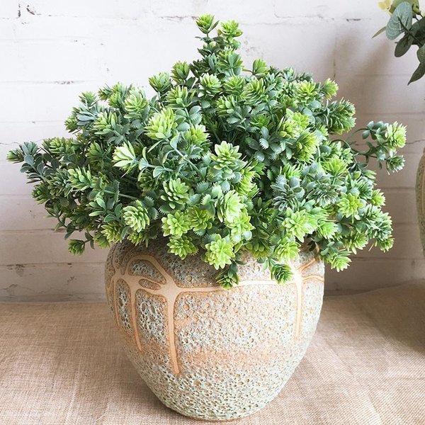 Plastic Succulent Plants Artificial Fall Leaves Flores DIY Suculentas Artificial Wedding Decoration Plant Fake Flowers Wreath