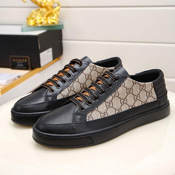 LuxuryDesigner Hot Mens Ace Shoes Sneakers Flats Fashion Scarpe da uomo with Original Box Men Shoes Vintage Lace-Up Breathable Sneakers
