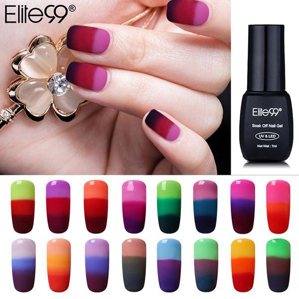 Art Nail Elite99 New Arrival 3 Color Chameleon Mood Changing Nails UV Gel Soak Off LED UV Gel Lacquer Nail