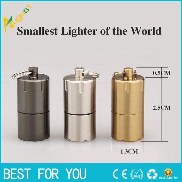 best selling Hot Sale Mini Compact Kerosene Lighter Capsule Gasoline Lighter Inflated Key Chain Petrol Lighter Grinding Wheel Lighters Outdoor Tools