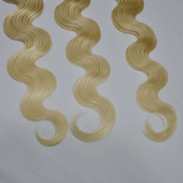 Brazilian Human Hair Weave Bundles #613 Blonde Virgin Human Hair Extensions Body Wave 3Pcs Lot Free Shipping