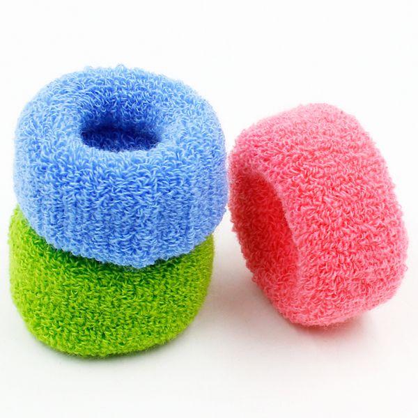 1 шт. Новые женщины большие широкие мягкие резиновые ленты для волос эластичные аксессуары галстук резинка мода бесплатная доставка