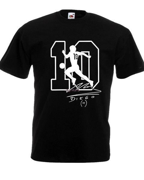 T-shirt MARADONA el morre Napoli Argentina pibe uomo bimbo autografo camisa 100% cotone Football fresco orgulho Casual t homens Unisex
