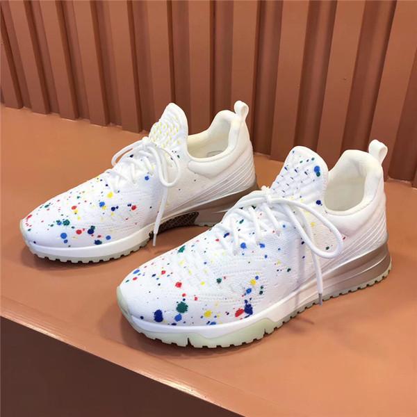 2019 Hot Designer VNR Baskets homme en tricot élastique Gradient légère Brillant respirante Chaussures Casual Taille 38-46