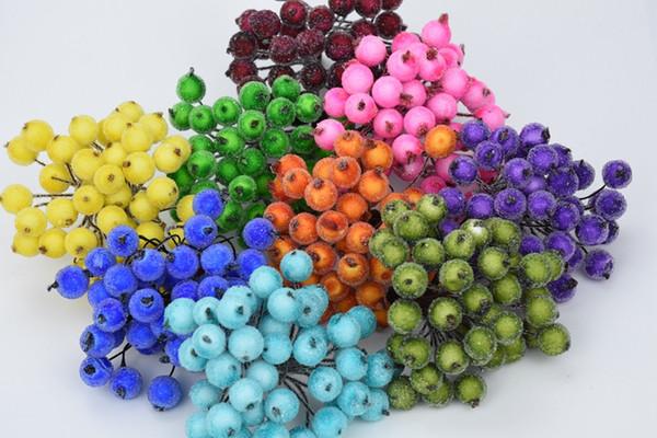 20pcs/40head fake artificial flowers DIY home christmas new Year wedding decoration gifts pompons floristics hydrangea