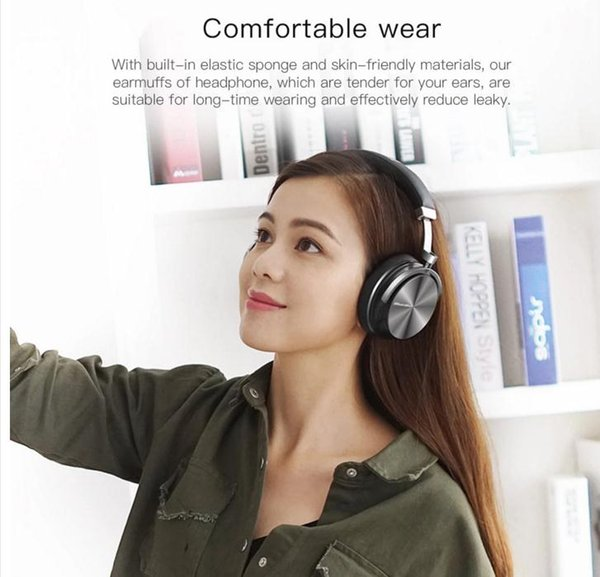 Factory sell T4S bluetooth headphones with microphone ANC active noise cancelling wireless headset with retail package car