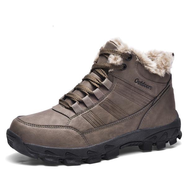 Men's shoes short boots non-slip shoes men's comfortable winter men's durable plush snow boots hiking boots for men