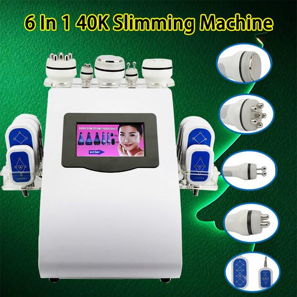 6 en 1 máquina multifunción cavitación ultrasónica Con multipolar Cuerpo de RF Tripolar RF facial para piel de apriete cuerpo adelgazar máquina