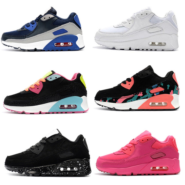 Nike air max 90 2020 Çocuk Sneakers Presto ayakkabı Çocuk Spor Ortopedik Gençlik Çocuk ayakkabılar 9 Renkler Boyutu 26-35 çalıştıran Bebek Kızlar Boys Eğitmenler