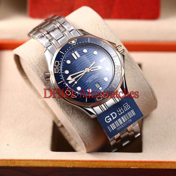 Classic Mens Designer Watches 210.20.42.20.03.002 300M Diver Swim Mechanical Automatic Watch Blue Dial Steel Case Bracelet Wristwatche