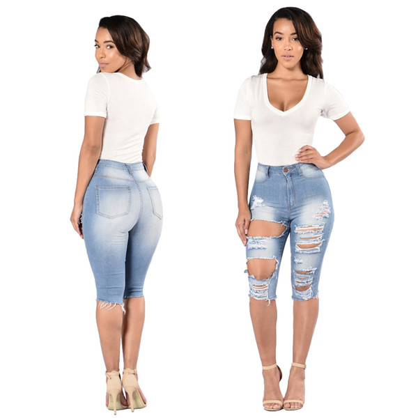Wholesale Women jeans High Strength Water washed skinny jeans Ladies fashion New Style Leisure Bottom Jeans 182#