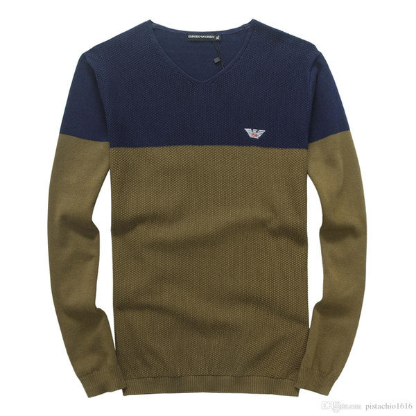 New high-quality knitted sweater round neck boy pullover with high-grade embroidery crafted into a slim brand design