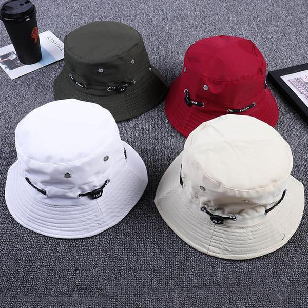 LDSLYJR регулируемый шнур пряжка ведро шляпа рыбака шляпа открытый путешествия шляпа ВС Cap шляпы для мужчин и женщин 249
