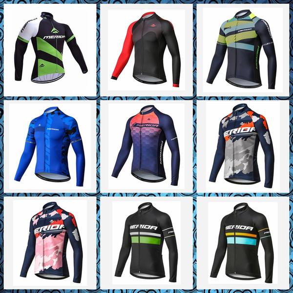 Pro nouveau printemps automne hommes style MERIDA cyclisme manches longues maillot Racing Sports de plein air Quick Dry wear 52008