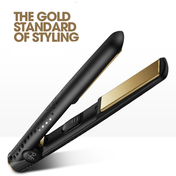 Gold Max Hair Straightener Classic Professional Straight Roll Dual Use Ceramics Fast Hair Straighteners Iron Hair Styling tool