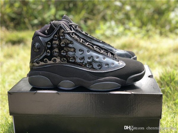 2019 Release 13 Cap and Gown Scarpe da basket Vera fibra di carbonio per uomo 13S Nero Scarpe da ginnastica noir sportiva 414571-012 Con scatola
