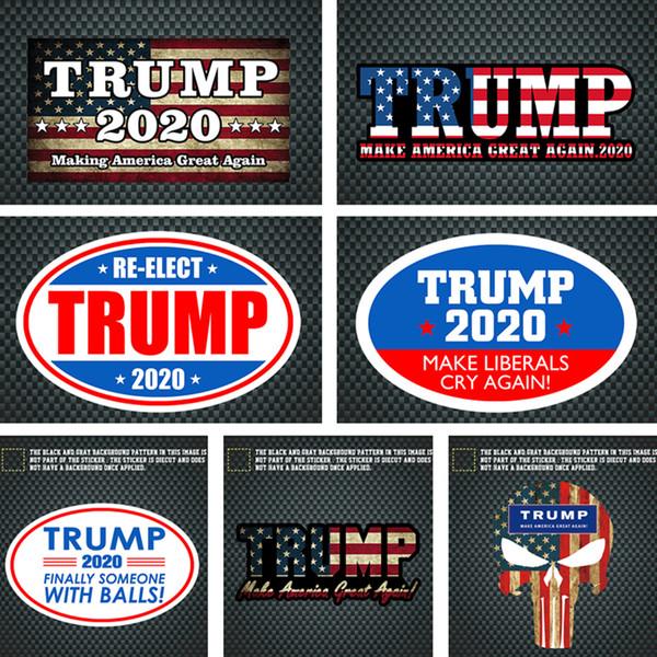 Donald Trump Farbige Aufkleber TRUMP 2020 UAS Präsident Parlamentswahl Auto Aufkleber Fahrzeug Paster Trump Aufkleber Aufkleber Dekoration C71102