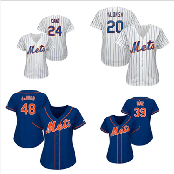 separation shoes 21fb7 18468 2019 Womens Jacob DeGrom Pete Alonso Custom NY Mets Jersey Edwin Diaz  Robinson Cano New York Baseball Jerseys From Ylz001, $23.09 | DHgate.Com