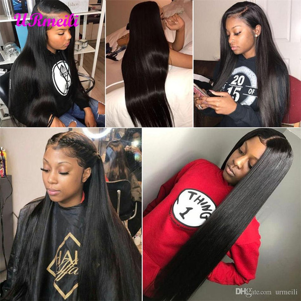 Straight Wig 360 Full Lace Frontal Wigs Pre Plucked With Baby Hair 150% Density Brazilian human hair lace front wigs For Black Women
