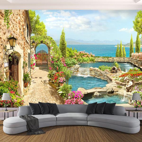 High Quality Custom 3d Photo Wallpaper For Bedroom Walls 3d Garden Landscape Background Wall Painting Home Decor Living Room Desktop Wallpapers High