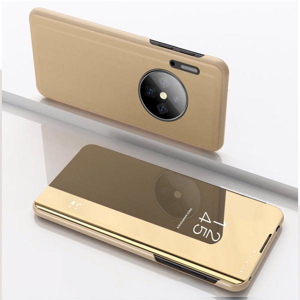 Кожа Гальваника Зеркало Флип Стенд Чехол Для Сна Huawei Mate 30 Pro Mate 20 Pro Mate 10 P30 Pro P20 P10 Mate9