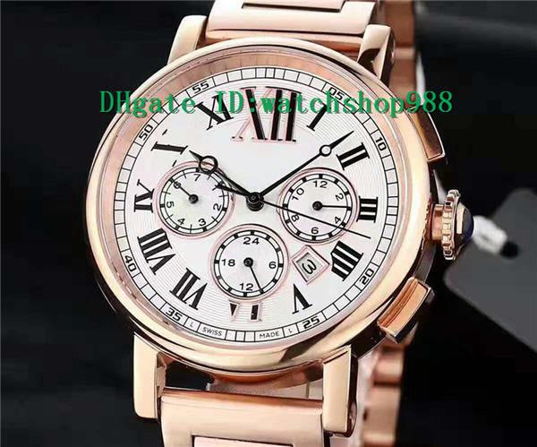 New Luxury Watch ROTONDE DE Watch Annual calendar Swiss Automatic Movement 28800 vph Sapphire Crystal 18k Rose Gold 316L Steel Case