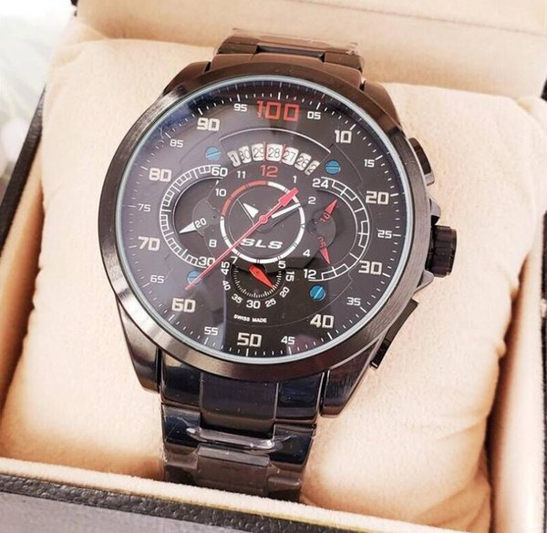 Luxury brand designer high-end selling European and American style calendar multi-function sports business quartz six-pin waterproof watch