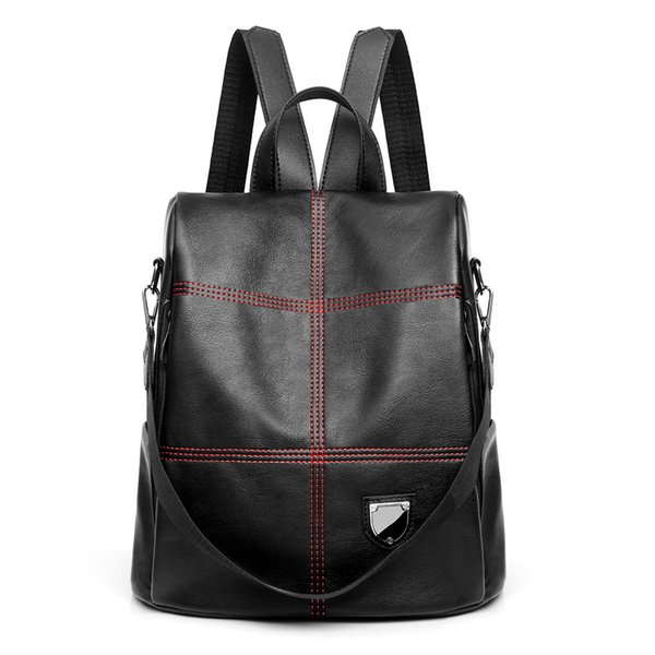 2019 New Luxury PU Leather Travel Backpack for Women Leisure Shopping Backpack for Female Fashion Personality Backpacks