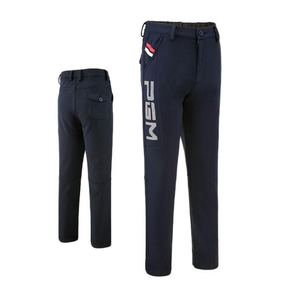 New Men Golf Pants Boy Winter Warm Slim Long Pants Male Golf Clothing Quick Dry Men's Sports Trousers Apparel Size M-2XL