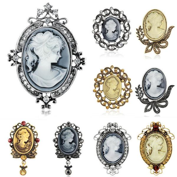 Yeni Kadın Bayanlar Vintage Şık Yapay elmas broş iğneler Kadınlar Düğün Gelin Takı