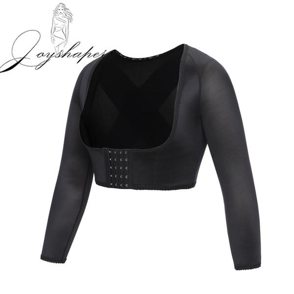 Joyshaper Langarm Crop Top Körperhaltung Korrektor Armformer Schlankere Tops für Frauen Shapewear Compression Upper Surgical Vest