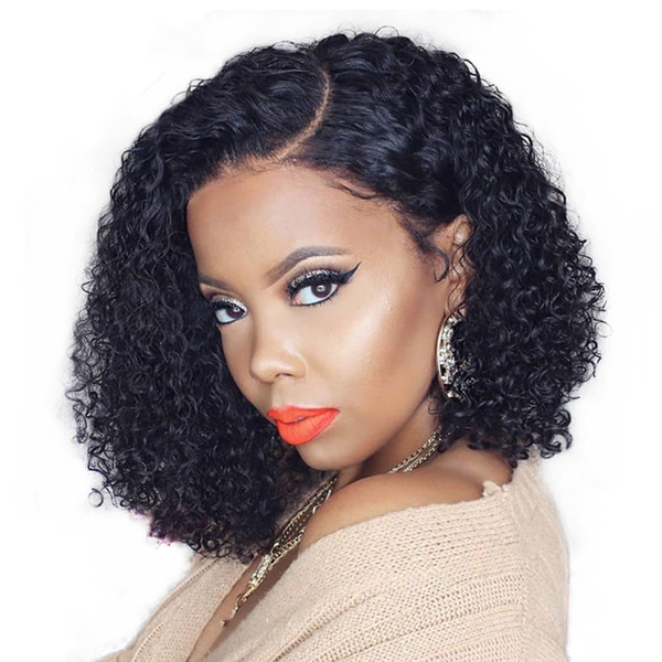 13x6 Short Curly Wig Lace Front Human Hair Wigs For Black Women 150 Density Full Ends Deep Part Brazilian Bob Wig Prosa Full Lace Curly Wig Human