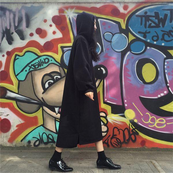 ZSIIBO Sudaderas con capucha para mujer Sudadera deportiva casual Sudadera con capucha Color sólido Mangas largas Irregular Moda superior Sudaderas con capucha sueltas con bolsillos SH190911