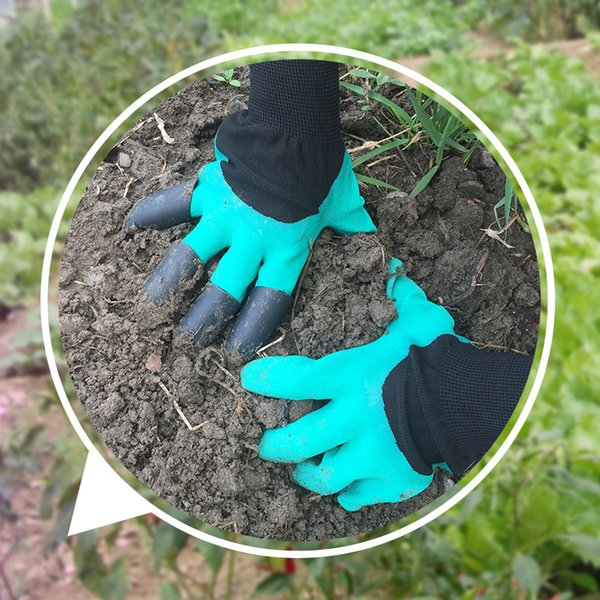 1 pair garden gloves 8 abs plastic garden rubber gloves with claws quick easy to dig and plant for digging planting