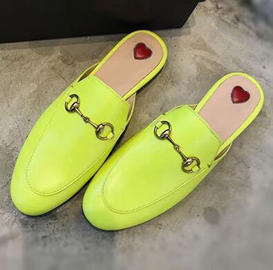 Senhoras De Couro Reais Chinelos Morango Mulheres cat Forma Ninho Chinelos Flats Sapatos Preto Marca Dedo Toe Loafer Sapatos Casuais Grandes Sapatos sa3