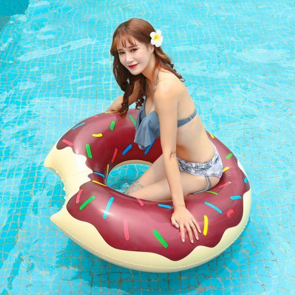 Sweet Dessert Giant Pool Floats Donut Pool Pools juguetes de diferentes tamaños Super Large Gigantic Donut Circle Ring QQA430