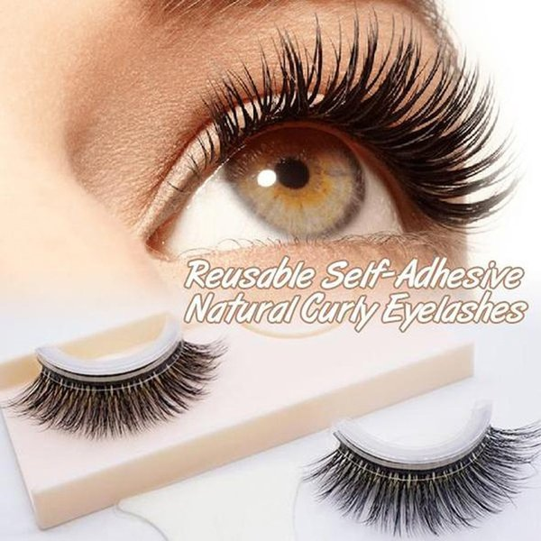 3d Reusable Self-adhesive Natural Curly False Eyelashes Thick No Glue Fake Eyelashes Eye Lashes Extension Makeup Tools