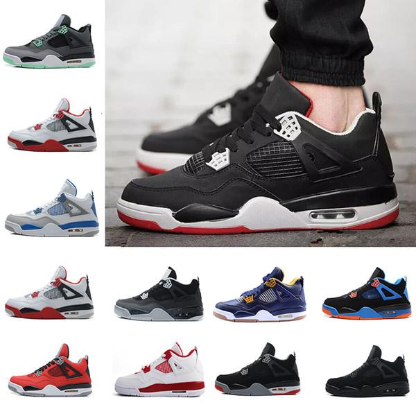 İyi Basketbol Ayakkabıları 4 beyaz çimento Atletizm eğitmenler Spor Ayakkabı Yakınlaştırma Sneakers İndirim Satış Eğitimi Boot Eğitmen Boyut 8,0-13