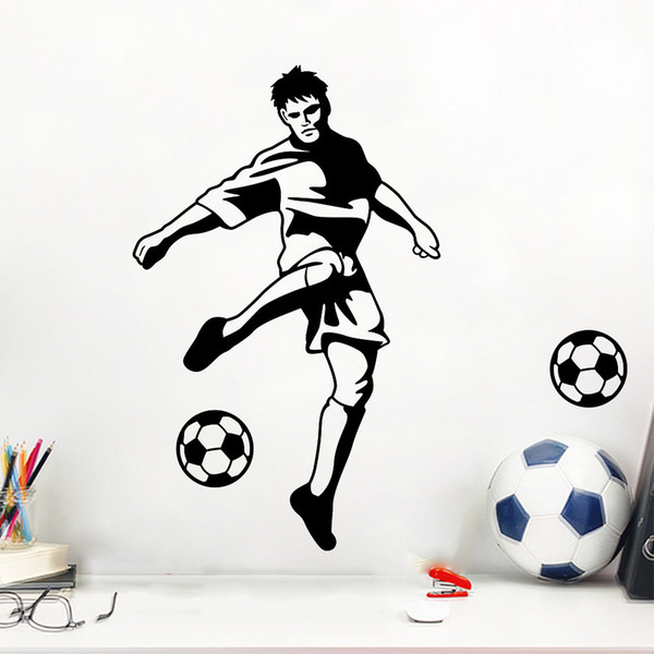 Football Wall Stickers Self-adhesive Wall Stickers Male Star Living Room Bedroom TV Background Boys Dormitory Wall stickers