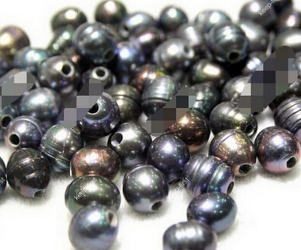 FREE SHIPPING + 50PCS Wholesale 10-11MM Natural Freshwater 2.3mm Big Hole Pearl Loose Beads