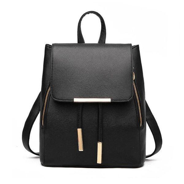 New Arrival School Backpack For Women Pu Leather Shoulder Bag Female Student Book Bag Casual Travel Knapsack Girls Rucksack