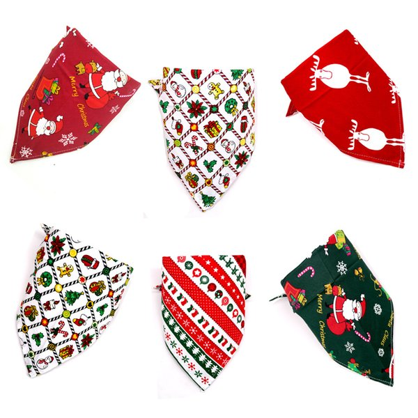 Dog Costume di Natale triangolare Bandane Pet sciarpa per Cani Gatti Bandana Cane capi di decorazione di Natale Pet Grooming cny1840